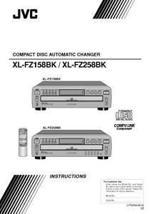 JVC XL-FZ158BK XL-FZ258BK CD Changer Owners Instruction