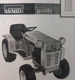 montgomery ward gilson gear drive 16 hp garden tractor owners manual gil 33130c for sale online ebay [ 1200 x 1600 Pixel ]