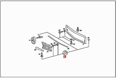 Genuine MERCEDES C107 R107 SL R107 Coupe C107 Repair kit
