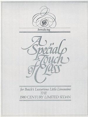 1980 Buick Century Limited Sedan Original Car Sales