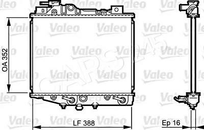 VALEO Engine Cooling Radiator 731019 Fits DAIHATSU Charade