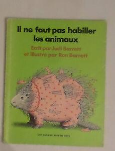 Il Ne Faut Pas Habiller Les Animaux : habiller, animaux, Livre, Habiller, Animaux, (Barrett, Judi), Lutin, Poche