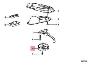 New Genuine BMW Sunroof Crank Trim Ring Anthracite OEM
