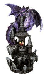 Green Dragon on Castle LED Light up Figurine Medieval Fantasy Decoration for sale online eBay
