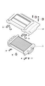 BMW MINI COOPER S INTERCOOLER PLASTIC COVER SCREWS & BOLTS