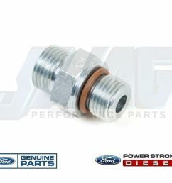 03 10 ford 6 0 6 0l powerstroke diesel fuel filter m16 fitting for supply return [ 1183 x 960 Pixel ]