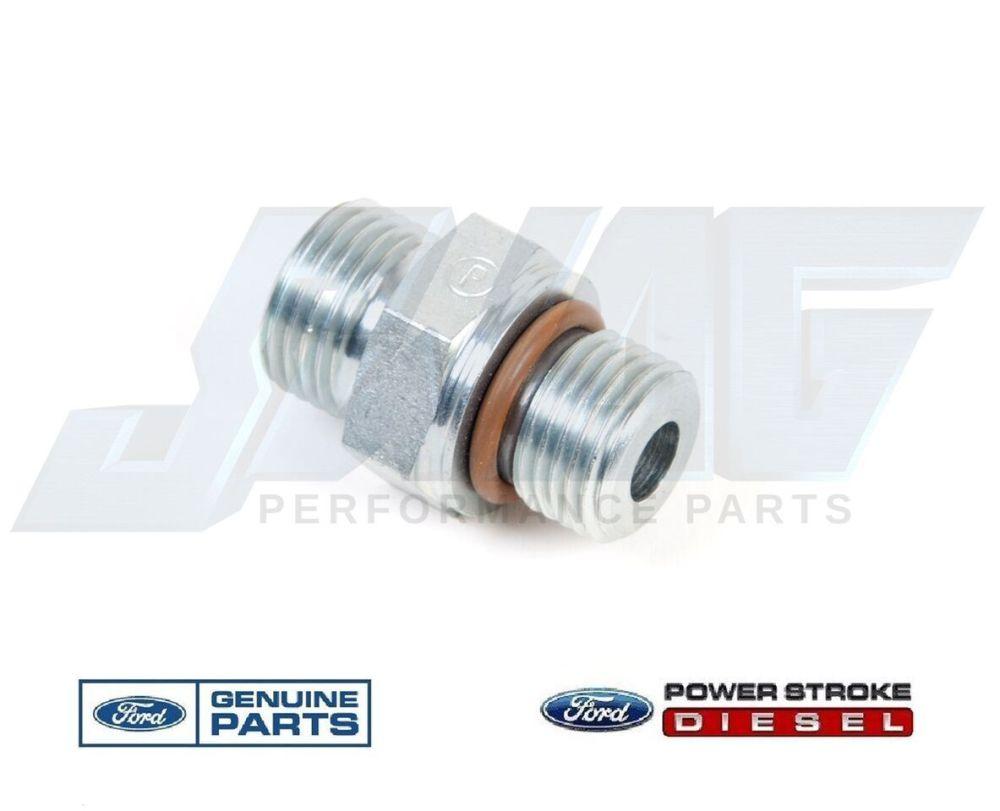 medium resolution of 03 10 ford 6 0 6 0l powerstroke diesel fuel filter m16 fitting for supply return