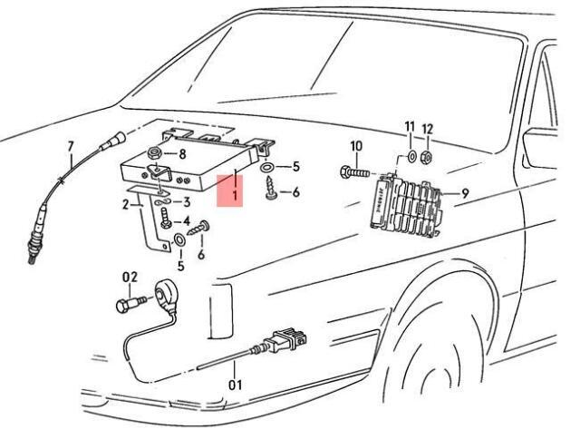 Genuine Knock Sensor With Wiring Harness Green AUDI VW 100