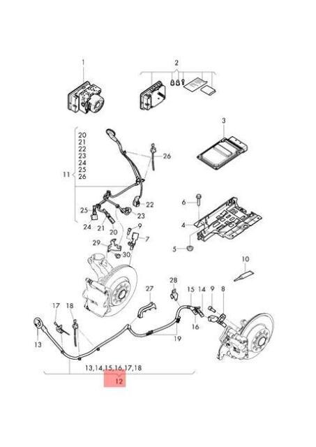 Genuine VW AUDI SEAT Golf Wiring Harness For Speed Sensor