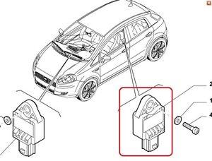 Fiat Grande Punto 2005-2009 sensore urto laterale