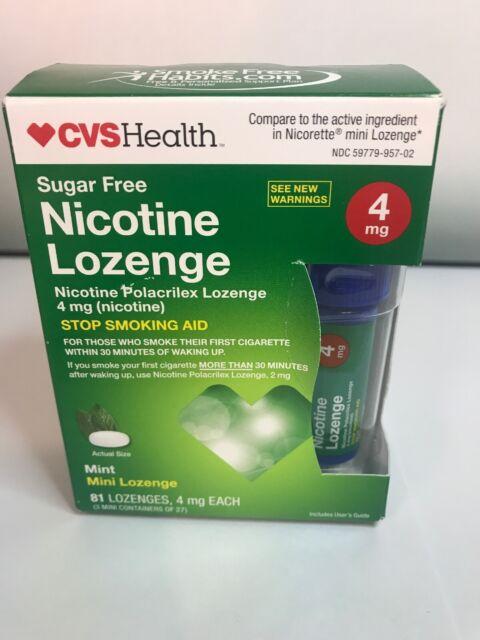 CVS Nicotine Lozenge 4mg Sugar MINT Flavor 81 PC Exp Nov ...