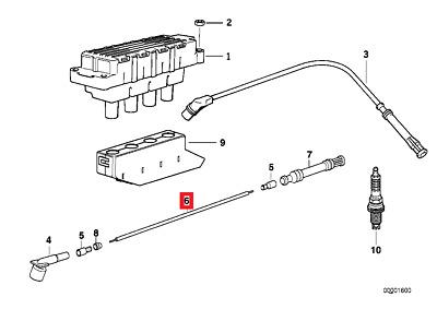 Genuine BMW Isetta E12 E21 E23 E24 E28 Ignition Lead Wire