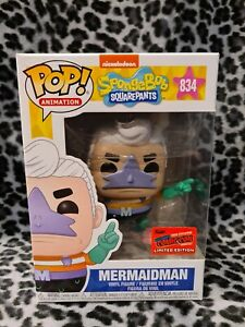 Mermaid Man Funko Pop : mermaid, funko, FUNKO, Mermaid, Spongebob, OFFICIAL, STICKER, W/Protector