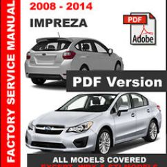 Subaru Impreza Wiring Diagram 2008 80 Series 2014 Factory Service Repair Shop Manual Image Is Loading