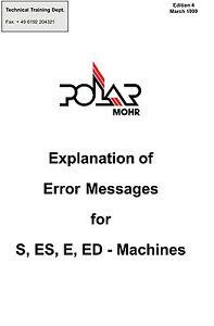 POLAR Cutters Service Manual Error List S-ES-E-ED (pdf