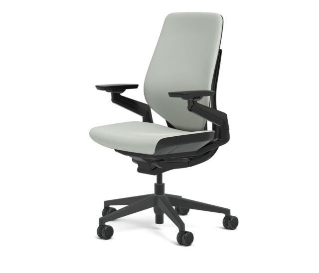 steelcase gesture chair dining room chairs walmart adjustable cogent connect shell black frame new nickel