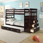 Wood Bunk Bed Twin Over Twin Kids Bunk Tiendamia Com