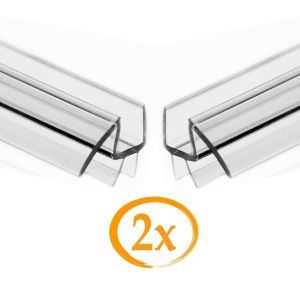 2 Pack Eatelle 3 8 Frameless Shower Door Sweep Bottom Seal W Drip Rail 36 L