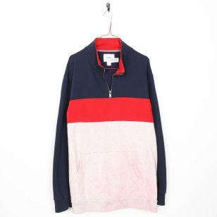 Image 1 - Vintage OLD NAVY 1/4 Zip Plain Sweatshirt Blue Red White | XXL