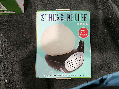 Golf Stress Relief Ball - Golf Theme w/ Sports Stand New ...