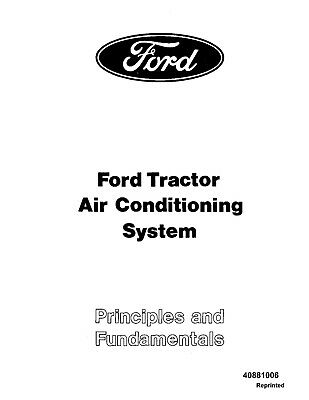 NEW HOLLAND Ford Se3454 Tractor A C System OPERATORS