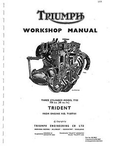 Triumph workshop manual 1969, 1970, 1971, 1972 & 1973