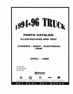 OEM Parts Book Dodge Truck D/W 150-350/Dakota/Ramcharger