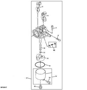 John Deere 4x2 Gator Carburetor Carb Part Number AM128892
