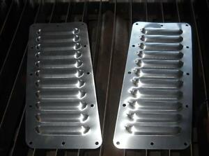 Jeep YJ Tilted Pair of 11 5quot Louvered Panels Hood louvers