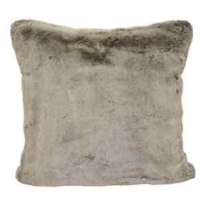details about brentwood originals lobo brown faux fur pillow single pillow 20 x 20 new