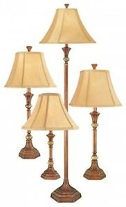 Home Lamp Set 4 Piece Table Accent Floor Light Living Room