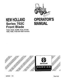 NEW HOLLAND Front Blade 1530 1725 1925 TC25 TC29 TC29D