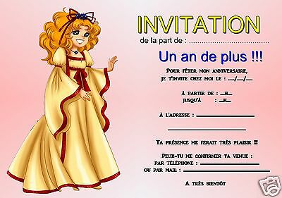 5 ou 12 cartes invitation anniversaire