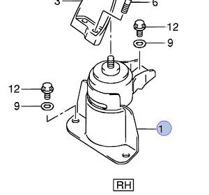 NEW Genuine Suzuki SWIFT 2005-2010 Engine Mount Right Hand