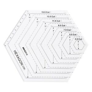 Hexagon Quilting Ruler Patchwork Plastic Template DIY