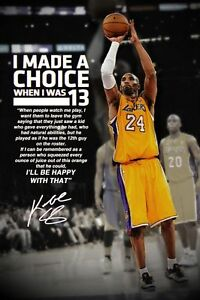 details about kobe bryant motivational inspirational sayings poster multiple sizes