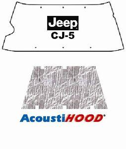 1955 1972 Jeep CJ 5/6 Under Hood Cover with J-0024 JEEP CJ