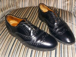 Cole Haan Men's Black Wingtip Oxford Dress Shoes. Size 8.5 made in USA used | eBay