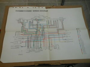 fj1200 wiring diagram savanna animal food chain oem yamaha 1991 fj1200b ebay image is loading