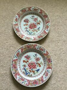 antique chinese porcelain two plates