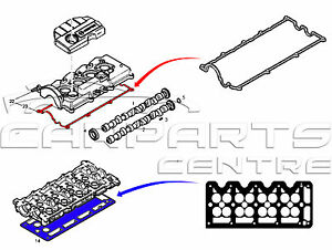 FOR VAUXHALL ASTRA G H 1.7CDTI ROCKER COVER GASKET CRANK
