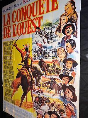 La Conquête De L'ouest Film : conquête, l'ouest, CONQUETE, OUEST, Wayne, Affiche, Cinema, Western