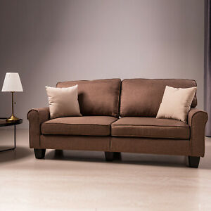2 Sitzer Polstersofa Sofa Couch Wohnzimmer Sessel Stoff