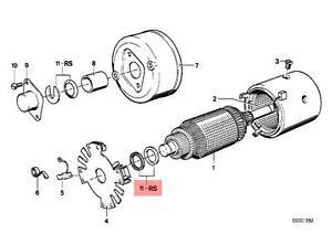 Genuine BMW E12 E21 E23 E28 E30 Starter Motor Seal Repair