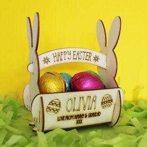 Personalised Easter Egg Basket  For Egg Hunt  Gift for