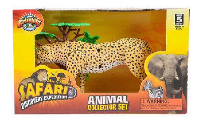 9 Cheetah Action Figure Kids Children Toys Animals