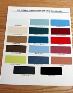 Image is loading chevy paint chip chart all original colors also usa made ebay rh