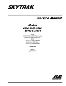 JLG 6036 6042 8042 10042 10054 Skytrak Service Manual