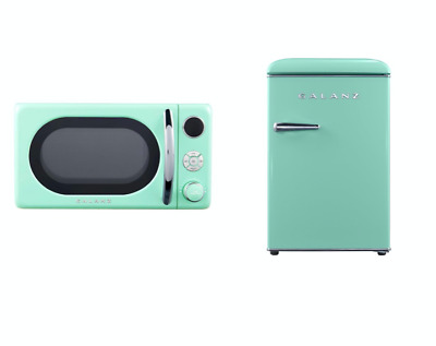 new 2 5 cu ft retro mini fridge 0 7 cu ft microwave combo compact refrigerators ebay