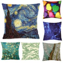 Sofa Box Cushion Covers Sofas For Small Living Areas Novel 18 Throw Pillow Case Car Decorative Square Cover Details About Pillowcase